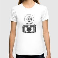 vintage camera T-shirts featuring Camera by danielrafalski