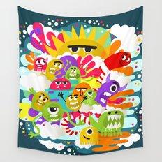 Monster Sunshine Friends Wall Tapestry