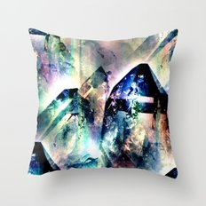 Color Burst Crystals Throw Pillow