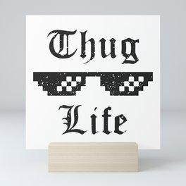 Thug life glasses print Mini Art Print