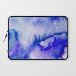 Watercolor texture - electric blue Laptop Sleeve