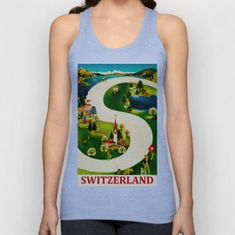Vintage Switzerland Travel Unisex Tank Top