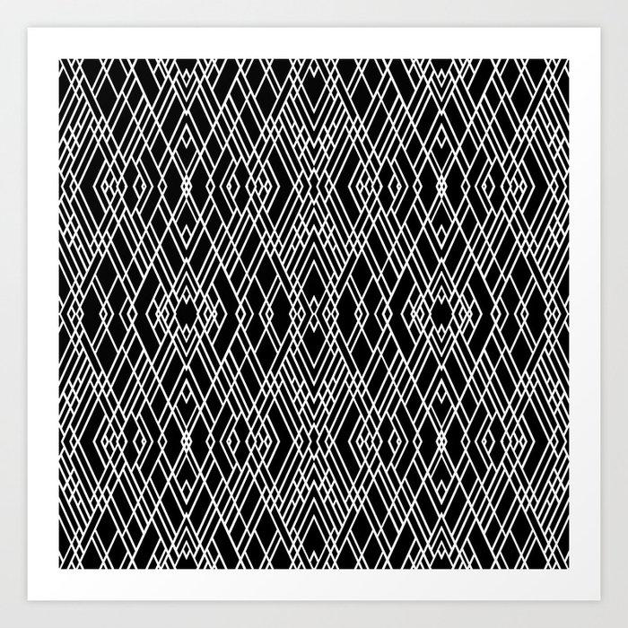 Art Deco Black And White Print