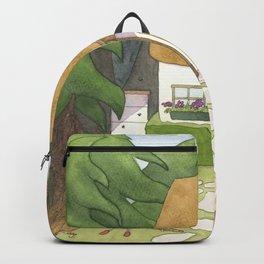 Goldilocks Comes Upon a Woodland Cottage Backpack