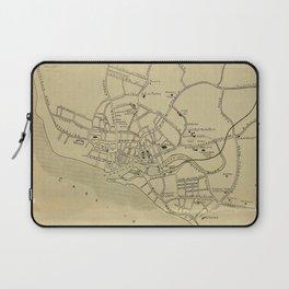 Vintage Bridgetown Barbados Map (1914) Laptop Sleeve