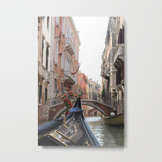 Italy Venice Gondola Metal Print