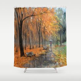 Autumn in the park # 2 Shower Curtain