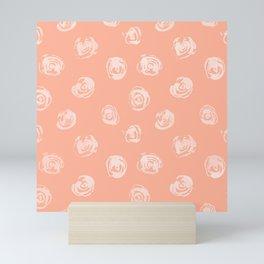 Sweet Life Rosebud Peach Coral Pink Mini Art Print