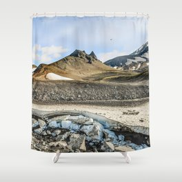 "Extrusion ""Camel"" at the foot of the Avachinsky volcano Shower Curtain"