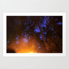 Fire in the Twilight Art Print