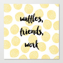 Waffles for Life Canvas Print