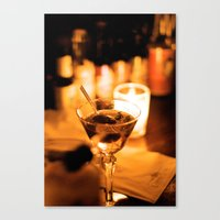 martini Canvas Prints featuring Martini by Ann Yoo