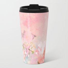 Modern blush watercolor ombre floral watercolor pattern Travel Mug