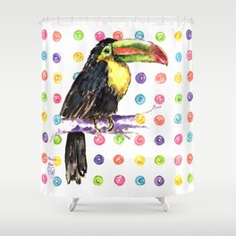 Toucan Happiness Shower Curtain