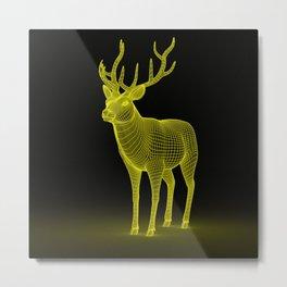 numeric deer 4 Metal Print