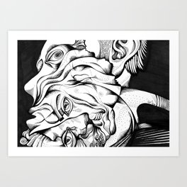 My two different faces Art Print