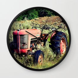 Wanna Take A Ride On My Tractor? Wall Clock
