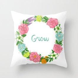 Grow Throw Pillow