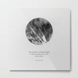 Minimalist Circle Orwell Metal Print
