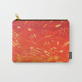 SUNSET SKY TRAILS - ABSTRACT RED AND YELLOW ARTWORK Carry-All Pouch