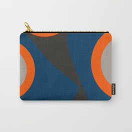 Abstract Shapes Blue and Orange on Black Art Carry-All Pouch