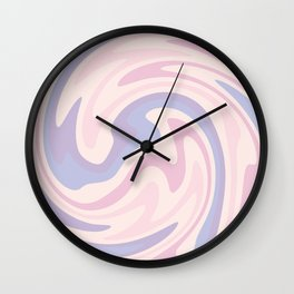 70s retro swirl pink and purple Wall Clock
