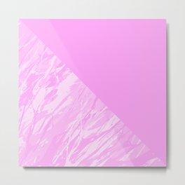 Pink camouflage pattern Metal Print