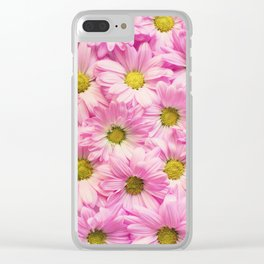 Daisies x Pink Clear iPhone Case