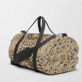 Moon shine over the wood in the night of glimmering pearl stars Duffle Bag