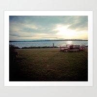 Lake Washington Shoreline Art Print