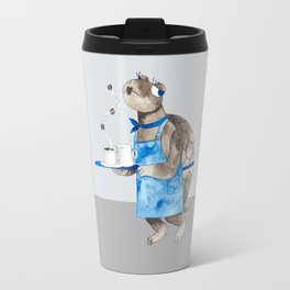 Turtle waitress coffee time Travel Mug