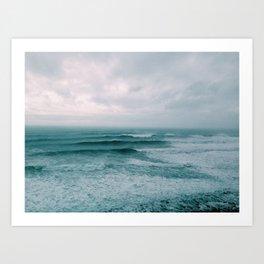 Stormy Waves Art Print