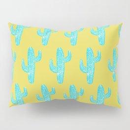 Linocut Cacti Desert Pillow Sham