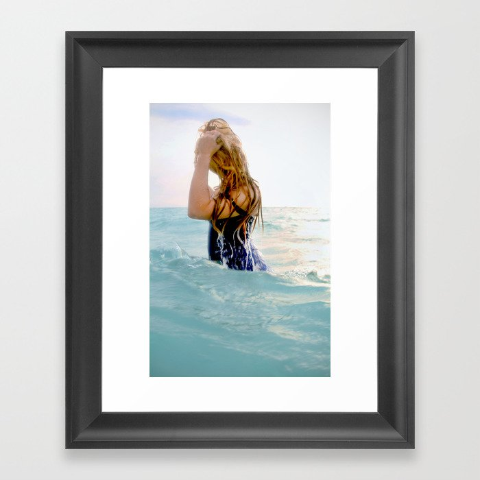 Rachel Surfaces Framed Art Print