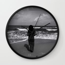 Calmness, The Waves and I Wall Clock