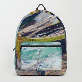 Three Fishing Boats by Claude Monet Backpack