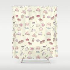Cream Tea Shower Curtain