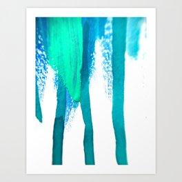 three legged race : abstract Art Print
