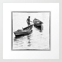 India, Andaman Islands, Fisherman in Port Blair Art Print