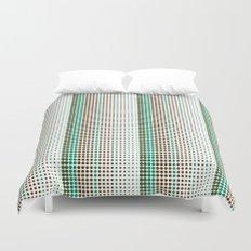 Dots Modern Geometric Green Minimalistic Pattern Duvet Cover