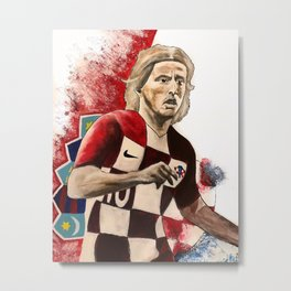 Luka Modric,croatia,soccer,futbol,fan art,wall art,artwork,shirt,painting,world cup 2018,colourful Metal Print