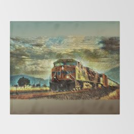 Observance Valley Freight Line Throw Blanket