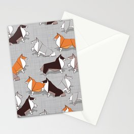 Origami Collie doggie friends Stationery Cards