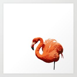 Mean Flamingo Art Print