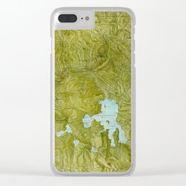 Map of Yellowstone 1898 Clear iPhone Case