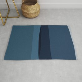 Modern Blue, Blue Painting, Blue Ombre Rug