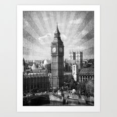 Vintage Big Ben Art Print