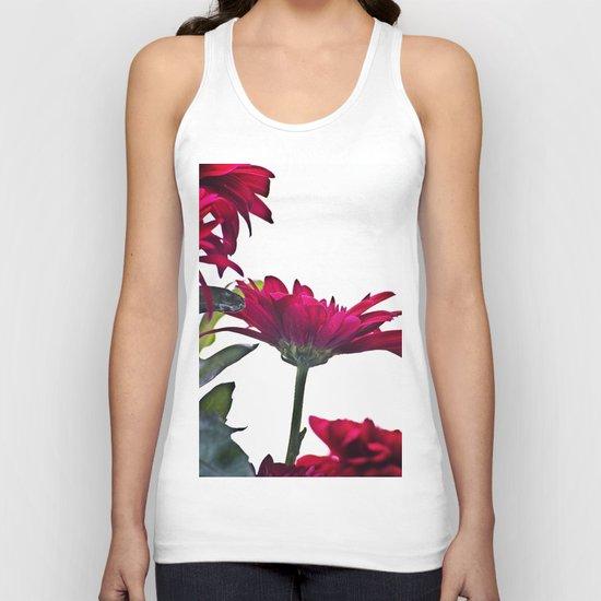 Red Chrysanthemum Flowers Unisex Tank Top