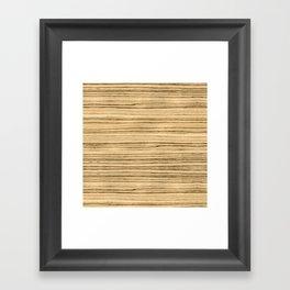 Zebrawood Framed Art Print