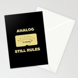 Analog VU Volume Unit Meter Sound Engineer Retro Stationery Cards